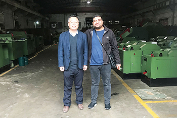 Feb 23, 2019 Algerian client ordered our screw making machines and come to inspect the finished machines.