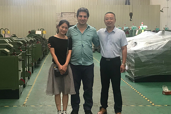 Sep 10 , 2019 Iran customer bought our screw making machines and came to check the finished machines & learn how to operate the machines. He is very satisfied with our machines.